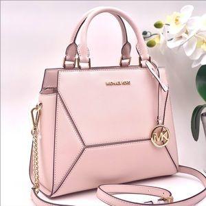 Michael Kors Prism Md Satchel Messenger Bag Pink